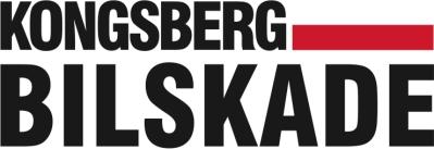 Logo Kongsberg Bilskade Sort + PMS rød 186 -kopi